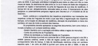 Registo e licenciamento de canídeos