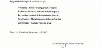 Alvará – Nomeação dos membros das mesas das assembleias de voto