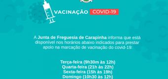 Apoio à marcação de vacinação